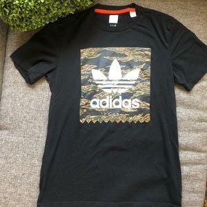 Adidas Trefoil Camouflage Black Short Sleeve Tee